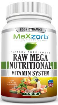 Maxzorb Raw Mega Nutritional Vitamins